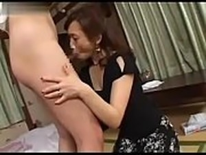 japanese mom teaches son fuck