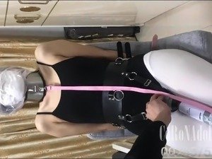 erotic bondage girl tied on bed