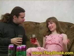 young teen and drunk young couple