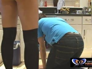horny wife fucks the black plumber