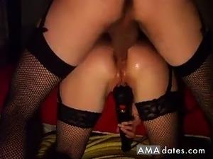 black bubble butt anal creampie