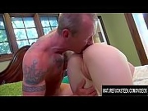 Pale Redhead Babe Zoey Nixon Slides Her Teen Pussy up and down an Old Cock