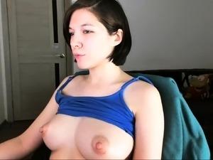 girlfriend showing puffy nipples